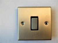 2 Way 1 Gang Satin Chrome INGOT Switch
