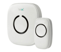 LEXI WIRELESS MAINS DOORBELL  1 TRANSMITTER + 2 RECEIVER (1PORTABLE + 1 PLUG-IN)  UP TO 150M RANGE