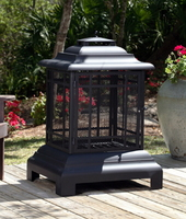 Steel Pagoda Firepit,Loggrate,Ash Catcher