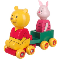 Pooh and Piglet wooden toy