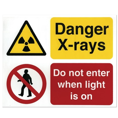 X-Ray Sign - Do not enter red light
