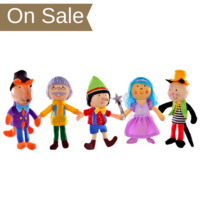 Pinocchio Finger Puppets