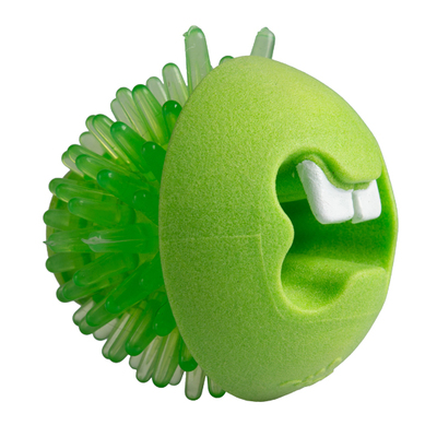 "Rogz Fred Medium Treat Ball - Green 2½"" x 1"