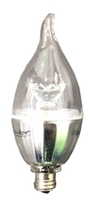 6 WATT E12 LED CANDLE WISP TAIL WARM WHITE 3000K 450 LUMEN