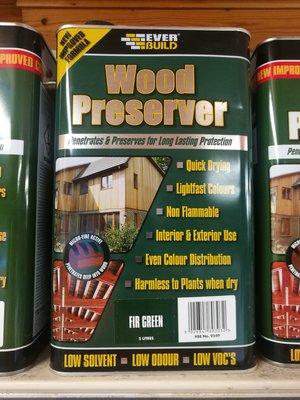WOOD PRESERVER 5LTR FIR GREEN