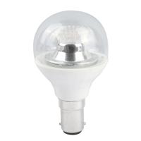 45MM LED CLEAR GOLF BALL DIMMABLE  240V 4WATT SBC/B15 CLEAR WARM WHITE (25W)