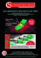 """CAT """"J"""" ESCO TIPS 10% DISCOUNT!!. CLICK FOR DETAILS"""