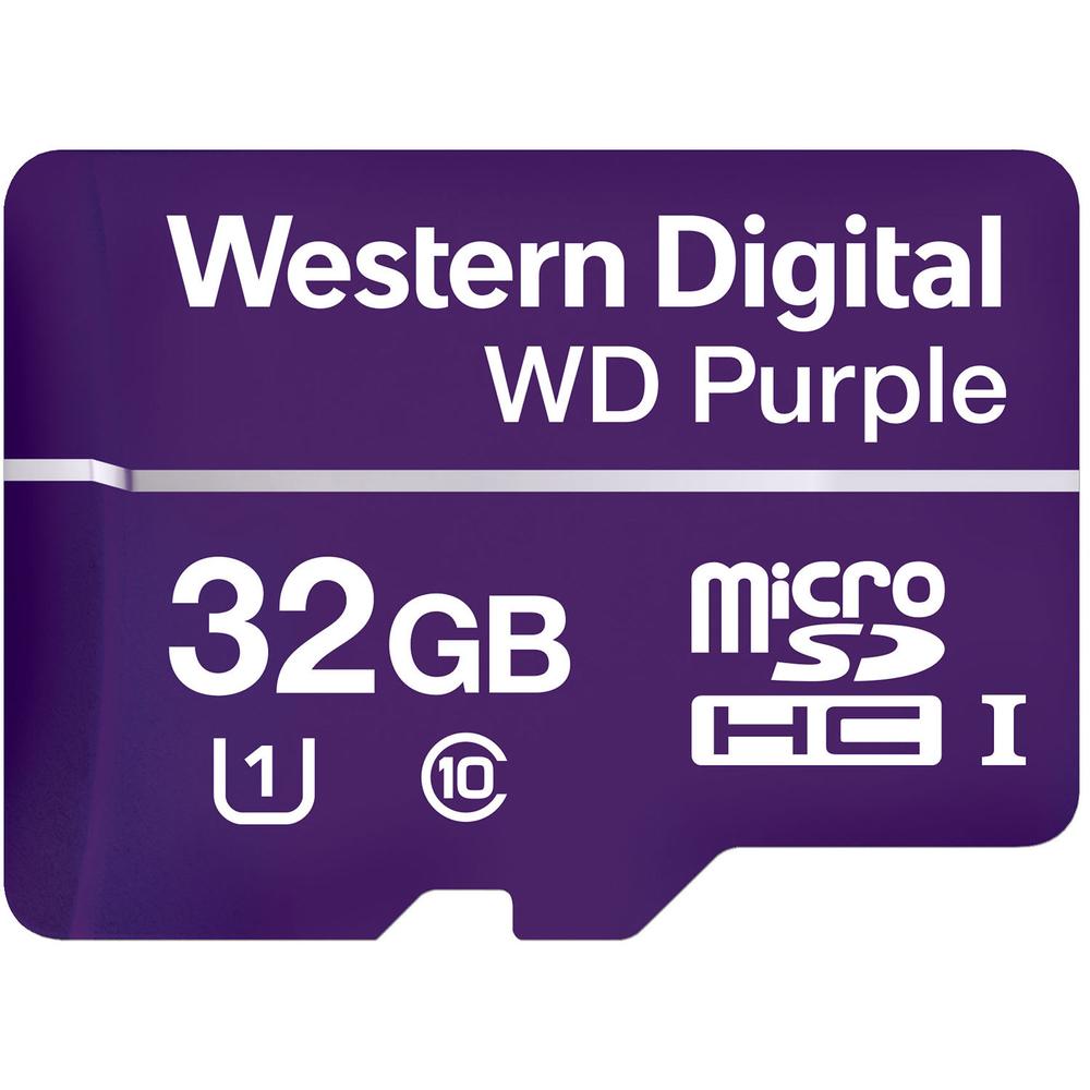 WD PURPLE 32GB Speed Class 10 UHS Speed Class 1 (U1) - IC Plus