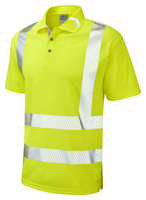 Leo BROADSANDS ISO 20471 Cl 2 Coolviz Ultra Polo Shirt
