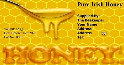 Honey & Spoon Label  (Pack of 200)