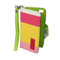 FOLIO1001 iPhone 4 Folio Yellow Pink