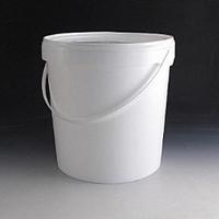 10 Litre White Tamper Evident Plastic Bucket.