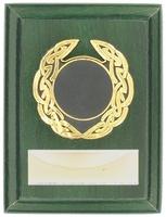 10cm Green Plaque with Celtic Trim