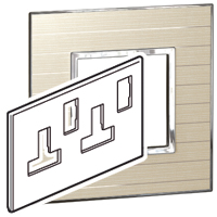 Arteor (British Standard) Plate (Twin Socket 13a 2g) Casual| LV0501.0872