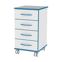 Sealwise Anti-Microbial Mobile lockable 4 drawer 450mm unit