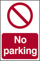 No Parking Sign 200x300mm