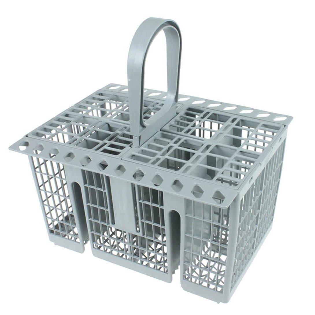 Hotpoint Indesit Grey Medium Sized Basic Cutlery Basket With Bottom Cuts Genuine