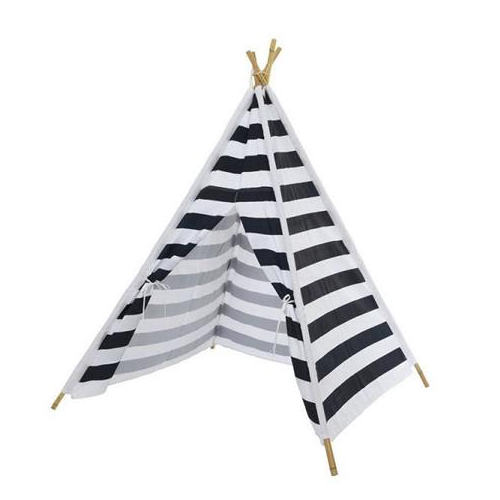 Navy & White Strip Teepee Play Tent