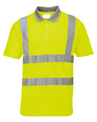 Hi Vis Short Sleeved Poloshirt EN471 Yellow