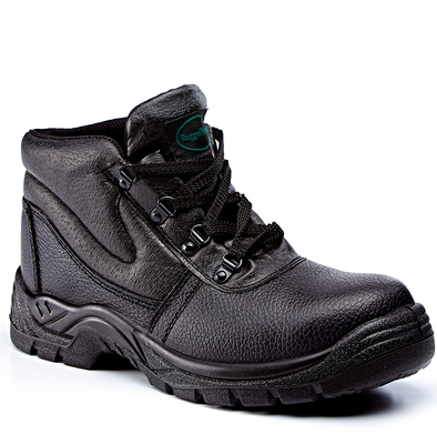 Rugged Terrain Black Leather Chukka Boot SBP SRC
