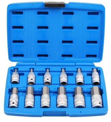 "BGS 12 Pieces 1/2"" Drive Hex Socket Bit Set  5052"