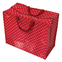Zipped Shopper Bag Red/White Spotty