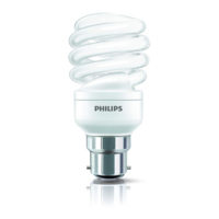 PHILIPS  8W BC CFL 44W GLS EQUIVALENT 500LM