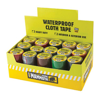 4.5m Waterproof Cloth Tape 50mm Assorted