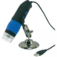 Usb Microscope 10X To 200X W/Software Stand C