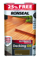 Ronseal Decking Oil 4 Litre (25% Extra Free)