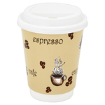 Cup 12oz Single Wall Beige WHat x50