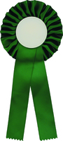 25cm Rosette with 50mm Recess (Green)
