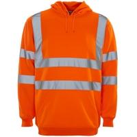 Supertouch Hi-Visibility Hooded Sweatshirt, Orange
