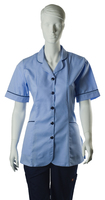 Homecare Skyblue Tunic With Collar & Navy Trim