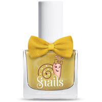 Gold coloured kids-safe nail polish that washes off with soap and water.