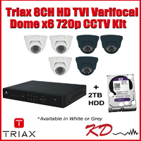 Triax 720p 8CH Varifocal Dome CCTV Kit White