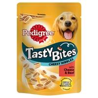 Pedigree Tasty Bites Cheesy Nibbles Cheese & Beef 140g x 8