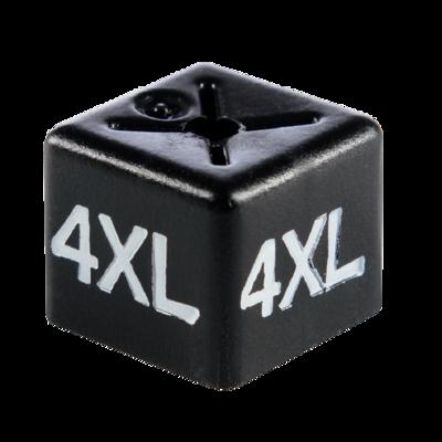 SHOPWORX CUBEX '4XL' Unisex size cubes - White on Black (Pack 50)