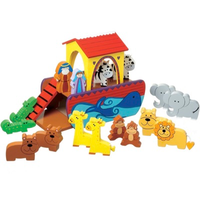 wooden Noah's ark play set