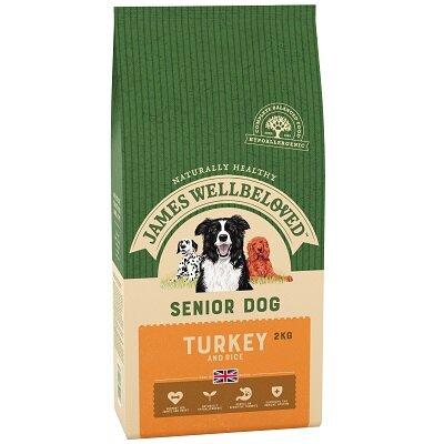 James Wellbeloved Turkey & Rice Senior Dog Food 2kg