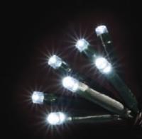 100 LED BATTERY BLUE LIGHTS  COMES WITH 6 HR TIMER