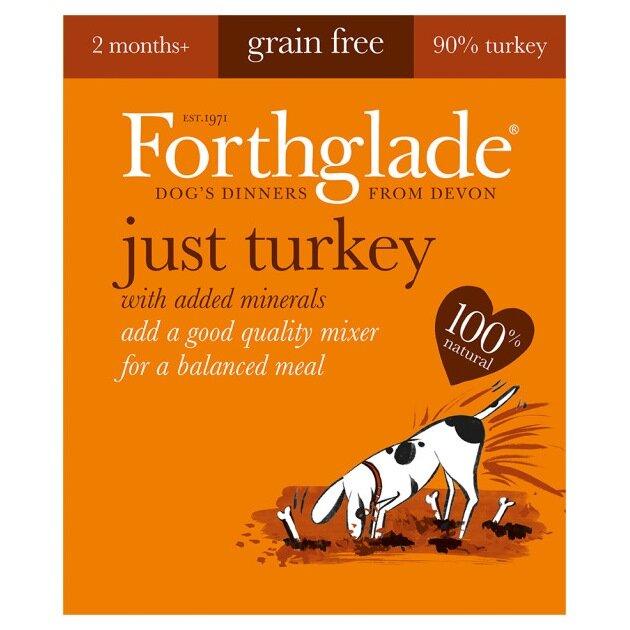 Forthglade Just Turkey Grain Free Dog Food 18 x 395g