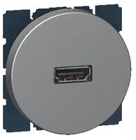 Arteor HDMI Socket Round - Magnesium  | LV0501.2546