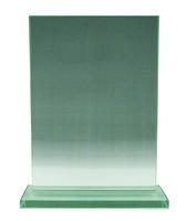 15cm Jade Econ Glass Plaque (Plain Box)