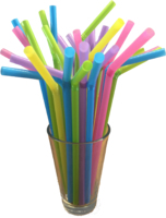 Multicolour Flexi Straws