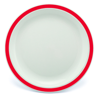 New Duo Red - 17cm Rimmed Plate