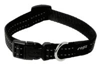 Rogz Utility Black Medium (Snake) Side Release Adjustable Collar