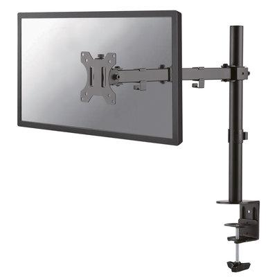 """Newstar Full Motion Desk Mount (clamp & grommet) for 10-32"""" Monitor Screen, Height Adjustable - Black"""