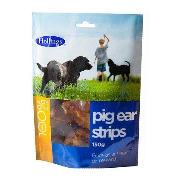 Hollings Pigs Ear Strips 8 x 150g