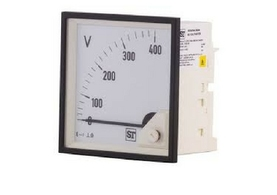 panel mounted voltmeter